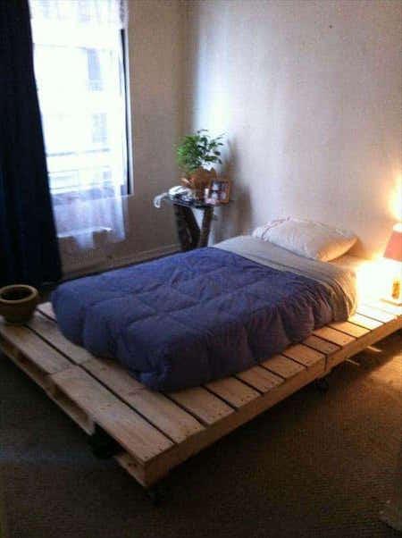 Palette pour un lit