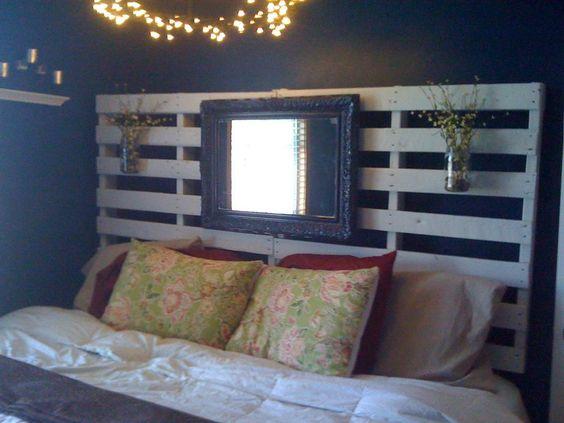 Un lit en palette